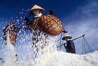 Salt harvest near Phan Rang, Vietnam