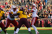 during Nebraska's game at Minnesota at TCF Stadium in Minneapolis, Minnesota on Nov. 11, 2017. Photo by Ben Manlove, Hail Varsity