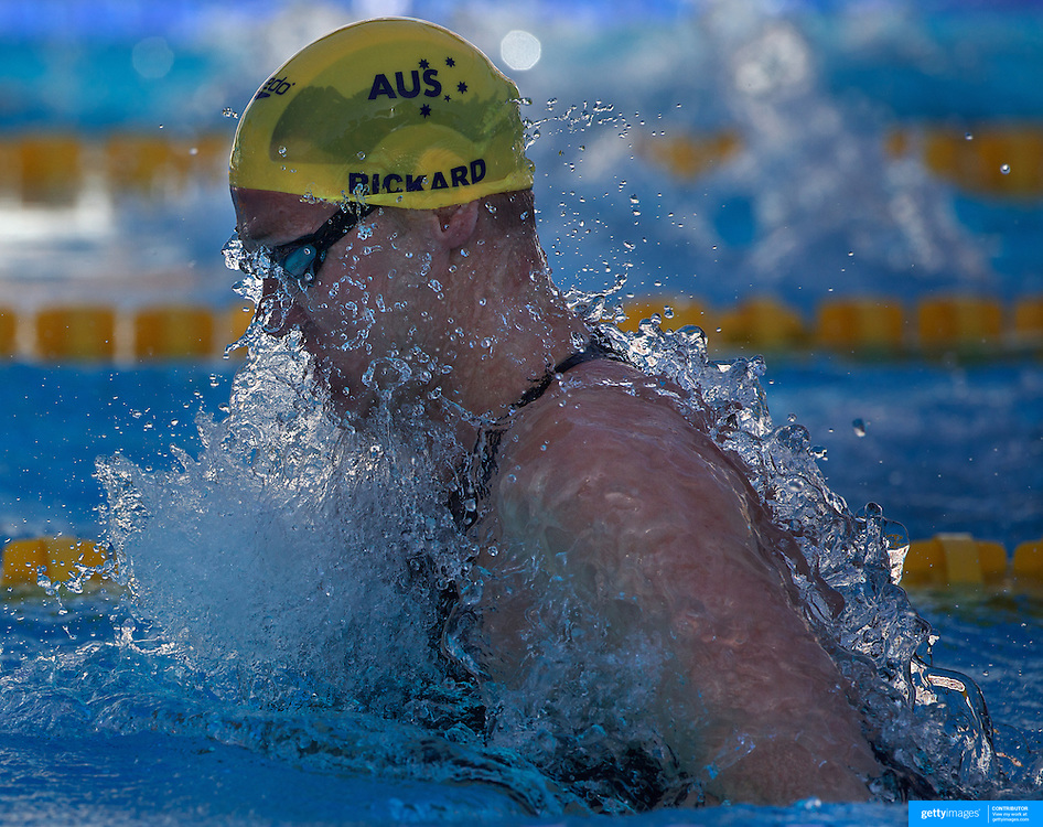 Brenton Rickard, Australia, winning the Gold medal in the Men's 100m breaststroke event at the World Swimming Championships in Rome on Monday, July 27, 2009. Photo Tim Clayton.