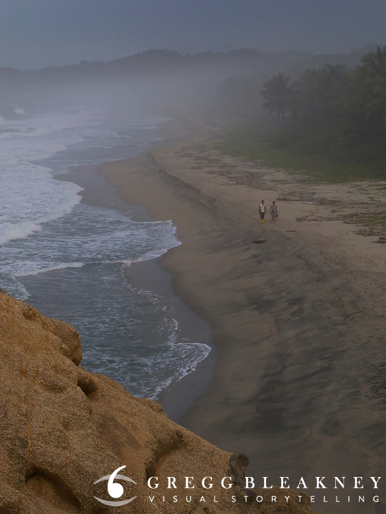 Trekking along the beach in Tayrona National Park - Colombia