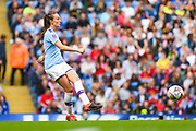 Manchester City Women forward Caroline Weir (19) passes the ball during the FA Women's Super League match between Manchester City Women and Manchester United Women at the Sport City Academy Stadium, Manchester, United Kingdom on 7 September 2019.