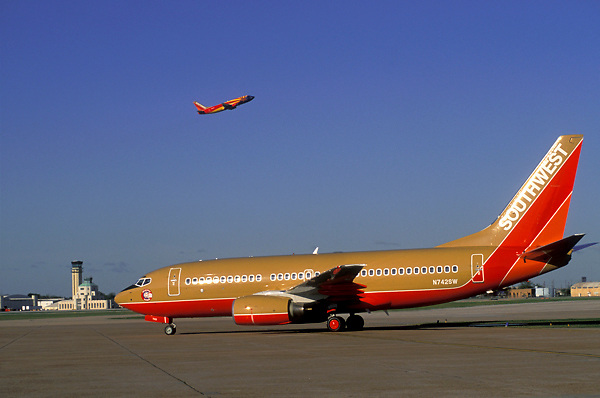 Southwest Airlines Airplanes at William P. Hobby Airport