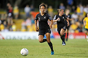Sarah Gregorius in possession during the Cup of Nations Women's Football match, New Zealand Football Ferns v Matildas, Leichhardt Oval, Thursday 28th Feb 2019. Copyright Photo: David Neilson / www.photosport.nz