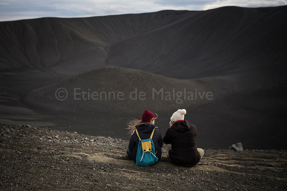 Hverfjall crater near Myvatn lake, in northeast Iceland.