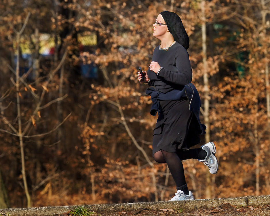 """Their was the """"Flying Nun"""" and then there was the running nun."""