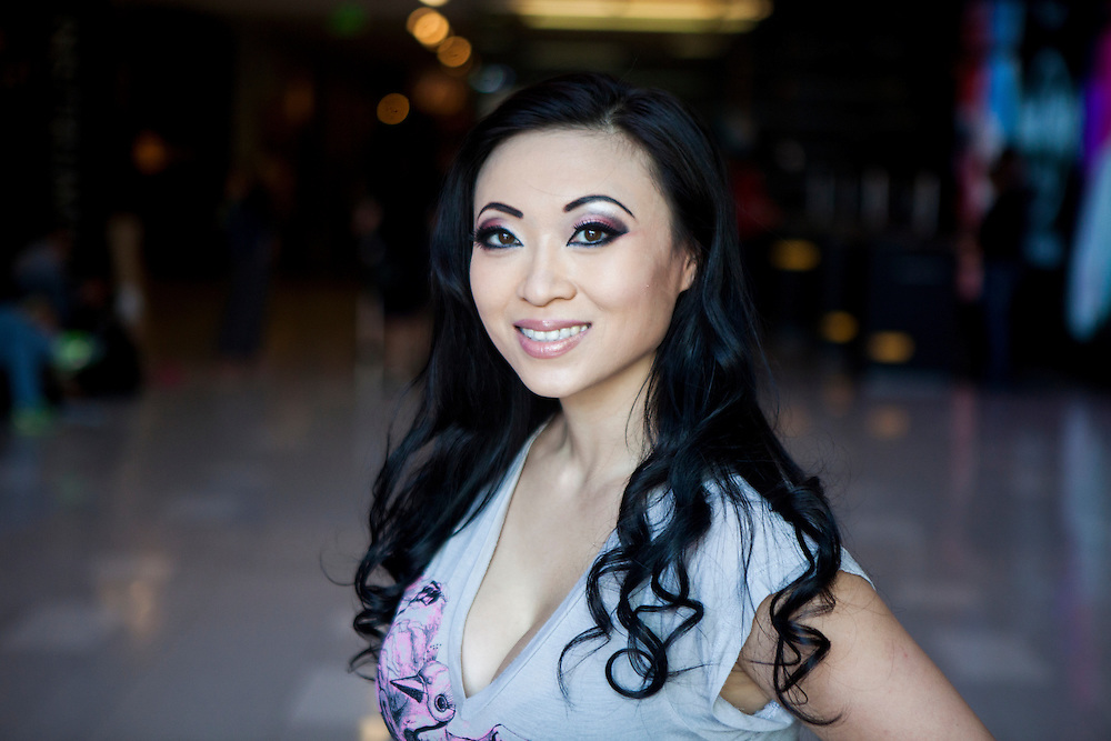 Cosplayer Yaya Han poses at the Hardrock Hotel in downtown San Diego before putting on her outfit.