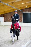 Suzanne Frijlink - Pako van de Demro Stables<br /> Europees Kampioenschap Fries Paard 2017<br /> © DigiShots