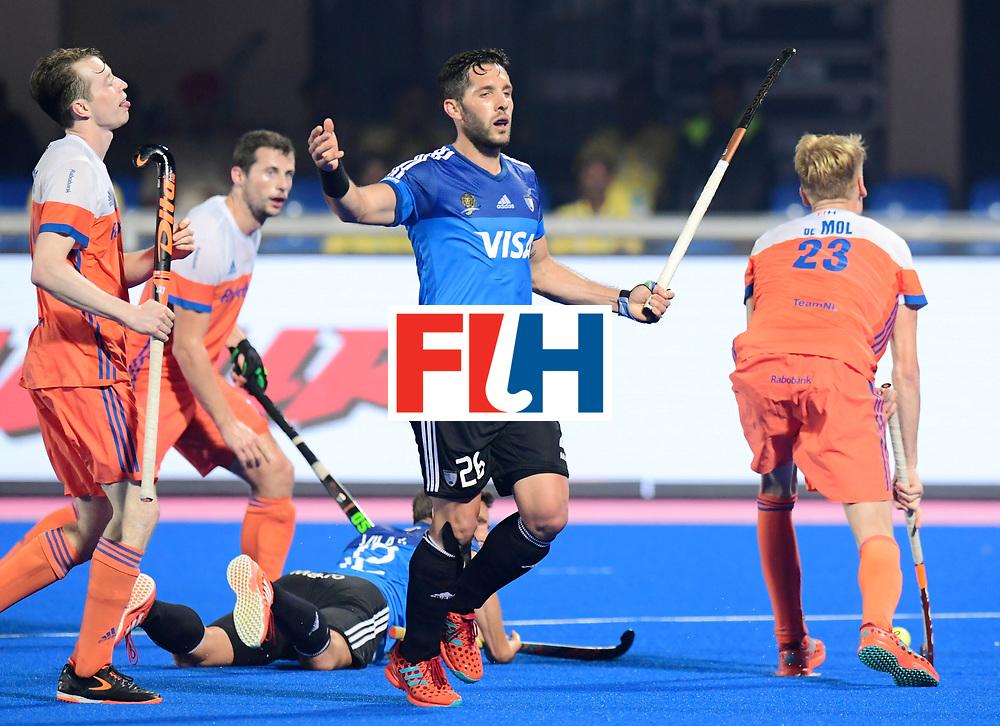 Odisha Men's Hockey World League Final Bhubaneswar 2017<br /> Match id:08<br /> Netherlands v Argentina<br /> Foto: Agustin Mazzilli (Arg) <br /> WORLDSPORTPICS COPYRIGHT FRANK UIJLENBROEK