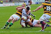 Gafatasi Su'a In action during the Taranaki vs Auckland ITM cup match played at Yarrow Stadium New Plymouth New Zealand. Saturday the 7th of September 2013. <br /> Photo John Velvin/Photosport