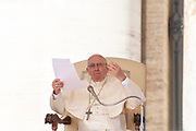 Pope Francis delivers a speech during his weekly general audience