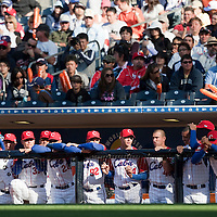 15 March 2009: Team Cuba stand in the dugout during the 2009 World Baseball Classic Pool 1 game 1 at Petco Park in San Diego, California, USA. Japan wins 6-0 over Cuba.