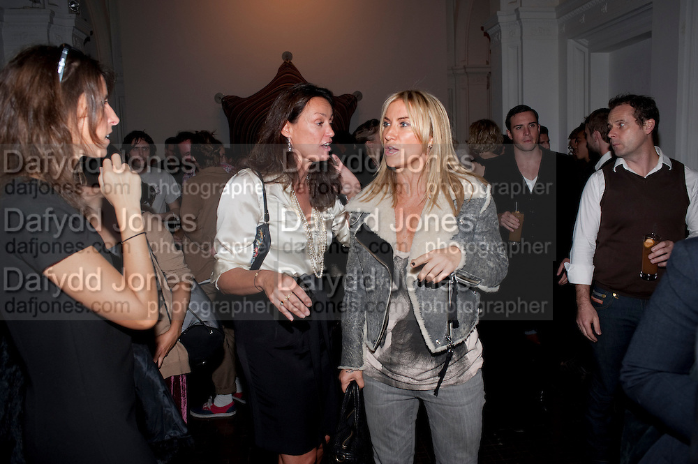 TRICIA SIMONON; MEG MATTHEWS, KM3D-1 Film screening made by Baillie Walsh of Kate Moss. Hosted by another magazine. Hanuch of Venison. London. 16 Septemebr 2010.  -DO NOT ARCHIVE-© Copyright Photograph by Dafydd Jones. 248 Clapham Rd. London SW9 0PZ. Tel 0207 820 0771. www.dafjones.com.