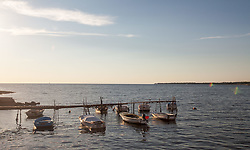 THEMENBILD - URLAUB IN KROATIEN, Boote an einem Bootssteg, aufgenommen am 03.07.2014 in Porec, Kroatien // Boats at a jetty,in Porec, Croatia on 2014/07/03. EXPA Pictures © 2014, PhotoCredit: EXPA/ JFK