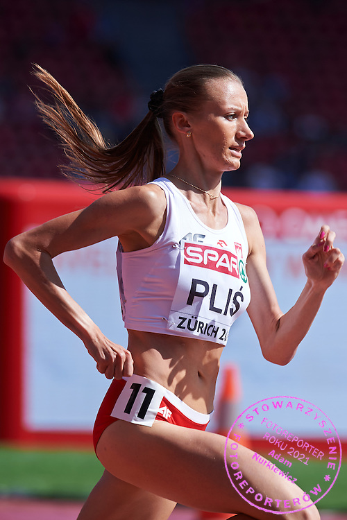 Renata Plis of Poland competes in women's 1500 meters qualification during the First Day of the European Athletics Championships Zurich 2014 at Letzigrund Stadium in Zurich, Switzerland.<br /> <br /> Switzerland, Zurich, August 12, 2014<br /> <br /> Picture also available in RAW (NEF) or TIFF format on special request.<br /> <br /> For editorial use only. Any commercial or promotional use requires permission.<br /> <br /> Photo by &copy; Adam Nurkiewicz / Mediasport