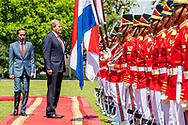 King Willem-Alexander and Queen Maxima of The Netherlands are welcomed by President Jcand his wife Iriana Widodo with an official welcome ceremony at the Presidential Palace in Jakarta, Indonesia, 10 March 2020. The Dutch King and Queen are in Indonesia for their 4 day State Visit. Photo: Patrick van Katwijk
