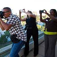 Behind the scenes images made my Randy Allen during a photoshoot with Mayor Kevin Johnson Monday, July 9, 2012. Johnson was photographed overlooking the Sacramento skyline on the Ziggurat building.