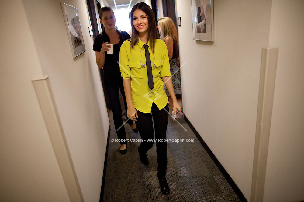 Actress and singer Victoria Justice at the studios of The View in New York prior to performing on the show during Fall Fashion week 2011. ..Photo by Robert Caplin.