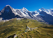 Postkarte A6: Eiger, Mönch und Jungfrau, Kleine Scheidegg (5987)