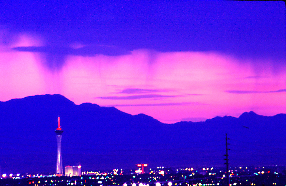 Storm over Las Vegas .