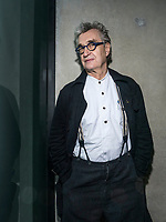 Portrait of German filmmaker, playwright, author, photographer Wim Wenders.