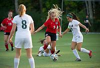 St Paul's School girls soccer versus Proctor Academy.    ©2017 Karen Bobotas Photographer