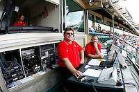 May 5, 2007: Announcers and score keepers in the booth at the stadium as the Chicago White Sox played the Los Angeles Angels of Anaheim at Anaheim Stadium in Anaheim, CA.