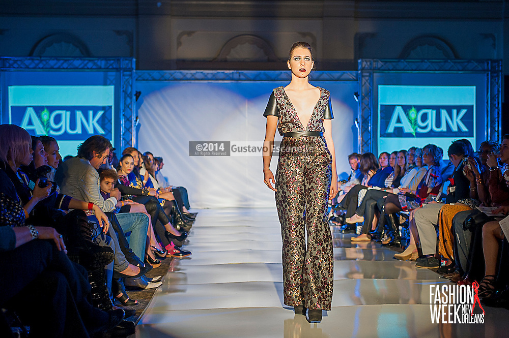 FASHION WEEK NEW ORLEANS: Designer Ashley Gunkel show case her fashion design on the runway at the Board of Trade, Fashion Week New Orleans on Wednesday March 19. 2014. #FWNOLA, #FashionWeekNOLA, #Design #FashionWeekNewOrleans, #NOLA, #Fashion #BoardofTrade, #GustavoEscanelle, #TraceeDundas<br /> View more photos at http://Gustavo.photoshelter.com.