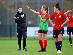 NEWPORT, WALES - Tuesday, November 6, 2018: Wales' Women's assistant coach Lauren Smith during a training session at Dragon Park ahead of two games against Portugal. (Pic by Paul Greenwood/Propaganda)
