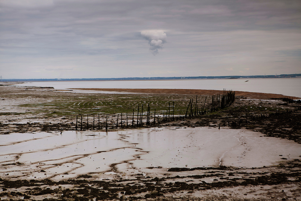 Cloud above estuary in Goldcliff Wales