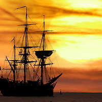 Replica of James Cook's Barque Endeavour Photographs of the Isle of Wight by photographer Patrick Eden photography photograph canvas canvases