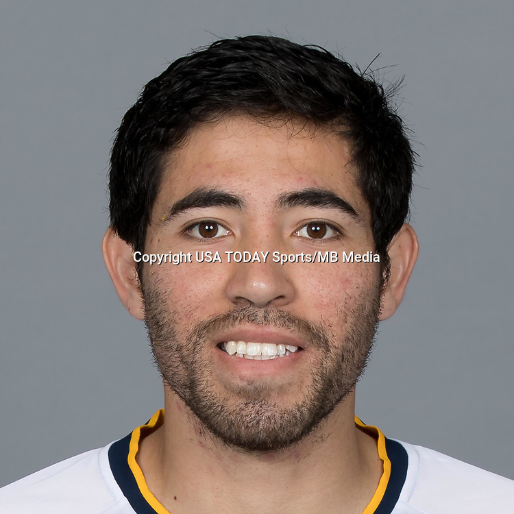 Feb 25, 2017; USA; LA Galaxy player Miguel Aguilar poses for a photo. Mandatory Credit: USA TODAY Sports