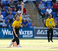Gloucestershire's David Payne<br /> <br /> Photographer Simon King/Replay Images<br /> <br /> Vitality Blast T20 - Round 8 - Glamorgan v Gloucestershire - Friday 3rd August 2018 - Sophia Gardens - Cardiff<br /> <br /> World Copyright &copy; Replay Images . All rights reserved. info@replayimages.co.uk - http://replayimages.co.uk