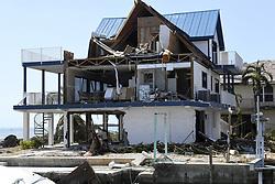 Hurricane Irma's powerful winds pushed sheared off the side of a home on Cutjoe Key, FL, USA, home exposing the inside on Tuesday, September 12, 2017. Photo by Taimy Alvarez/Sun Sentinel/TNS/ABACAPRESS.COM