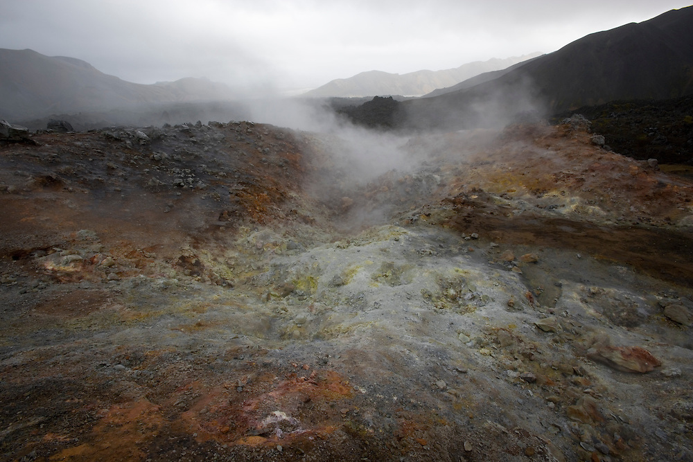 Geothermal activity is very widespread in Iceland in the Brennisteinsalda Geothermal Area