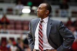 February 3, 2011; Stanford, CA, USA;  Stanford Cardinal head coach Johnny Dawkins on the sidelines during the first half against the Arizona Wildcats at Maples Pavilion.