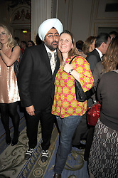 HARDEEP SINGH KOHLI and chef ANGELA HARTNETT at the 2009 Tatler Restaurant Awards in association with Champagne Louis Roederer held at the Mandarin Oriental Hyde Park, 66 Knightsbridge, London SW1 on 19th January 2009.
