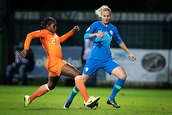 Lineth Beerensteyn of Nederland  and Kaja Eržen of Slovenia during football match between Slovenia and Nederland in qualifying Round of Woman's qualifying for EURO 2021, on October 5, 2019 in Mestni stadion Fazanerija, Murska Sobota, Slovenia. Photo by Blaž Weindorfer / Sportida