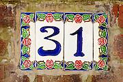 Künstlerkolonie, Hausnummer, Mathildenhöhe, Jugendstil, Darmstadt, Hessen, Deutschland | Centre of Art Noveau on Mathildenhoehe, Darmstadt, Germany