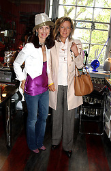 Left to right, NATHALIE HAMBRO and PRINCESS CHANTAL OF HANOVER at a launch preview sale of Nathalie Hambro's new line of fashion accessories 'Full of Chic' held at her home 63 Warwick Square, London SW1 on 5th May 2005.<br />