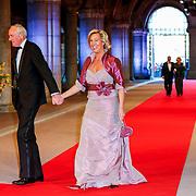 NLD/Amsterdam/20130429- Afscheidsdiner Konining Beatrix Rijksmuseum, Johan Remkes en partner Nicolette Pinkster