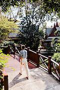 Lobby entrance gardens at Chiva Som