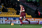 Bradford City defender Christopher Routis  during the Sky Bet League 1 match between Bradford City and Barnsley at the Coral Windows Stadium, Bradford, England on 26 January 2016. Photo by Simon Davies.