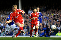 Photo: Jed Wee/Sportsbeat Images.<br /> Everton v Liverpool. The FA Barclays Premiership. 20/10/2007.<br /> <br /> Liverpool's Dirk Kuyt scores his first goal of the game from the penalty spot.