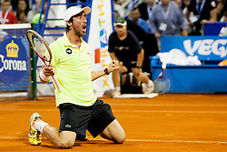 Pablo Cuevas of Uruguay during final of singles at 25th Vegeta Croatia Open Umag, on July 27, 2014, in Stella Maris, Umag, Croatia. Photo by Urban Urbanc / Sportida