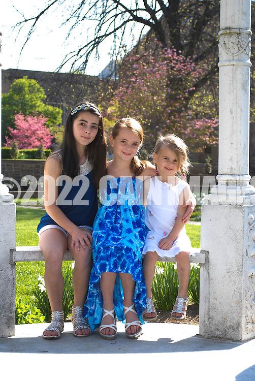 NEWTOWN, PA. - APRIL 28:  Sadovy family shoot in the Tyler Gardens at Bucks County Community College April 28, 2013 in Newtown Pennsylvania. (Photo by William Thomas Cain/Cain Images).http://www.loveweddingphotos.com.