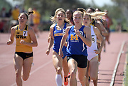 Apr 18, 2019; Azusa, CA, USA; Grace McKenzie of McNeese State leads the the heptathlon 800m at the Bryan Clay Invitational at Azusa Pacific University.