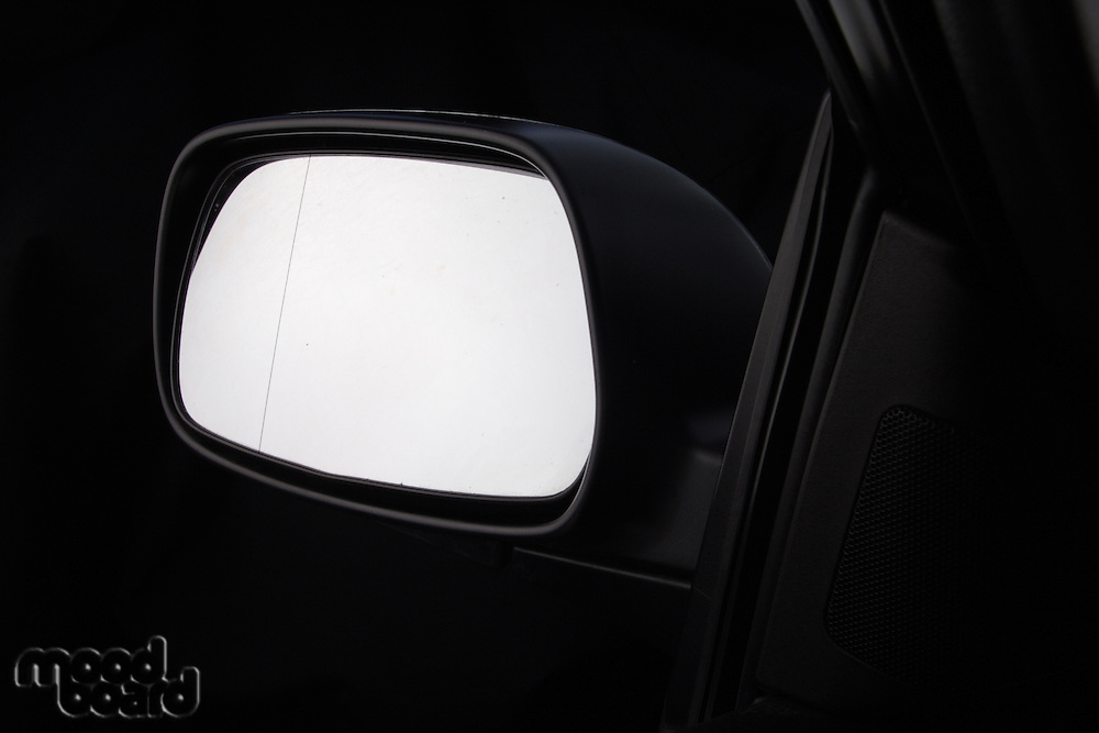Cloae up of car mirror