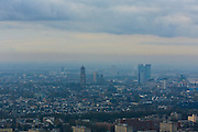 Nederland, Utrecht, Utrecht, 15-11-2010; skyline Utrecht met centraal de Domtoren. .luchtfoto (toeslag), aerial photo (additional fee required).foto/photo Siebe Swart