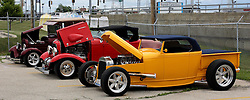03 June 2007: Dressed up street rods. Automotive shots from The Central Illinois Ford Day, held at Dennison Ford in Bloomington, IL.
