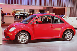 08 February 2007: 2007 Volkswagon Beetle. The Chicago Auto Show is a charity event of the Chicago Automobile Trade Association (CATA) and is held annually at McCormick Place in Chicago Illinois.